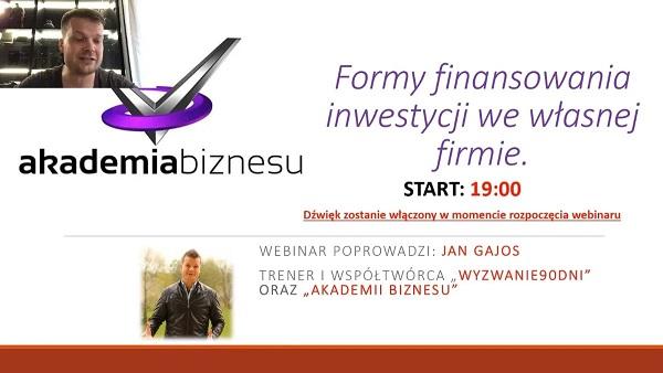 Formy finansowania inwestycji we własnej firmie